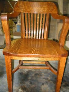 Quartersawn Oak Barrel Back Office/Court House Chair