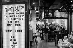 So long as you have food in your mouth, you have solved all questions for the time being. // Gotham Market