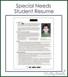 I knew when I wrote my original Getting To Know You: Special Needs Student Resume post that I would need to revise it as the years went b...