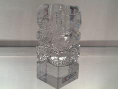 German Solifleur Walther Glas Vase by Heiner Duesterhaus GERMAN SOLIFLEUR WALTHER GLAS VASE BY HEINER DUESTERHAUS £35.00 BUY NOW ENQUIRE 1970's Blockkristall Zweigvase modernist solifleur crystal glass vase by IG - Ingrid Glasshutte. Still has original label. Dimensions: Depth: 65mm; Width: 65mm; Height: 150mm