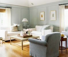 An all-gray color scheme helps modern furniture stand out. More ways to decorate with gray: http://www.bhg.com/decorating/color/neutrals/decorating-with-gray/?socsrc=bhgpin071112#page=15