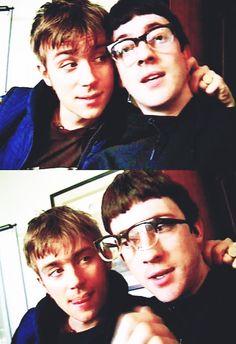 Blur Damon Albarn and Graham Coxon