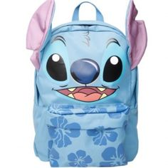 Disney Lilo & Stitch Hawaii Aloha Blue Backpack Brand new never used. A very unique backpack with Stitch's ears! Must have for any Disney fan! Super cute for school or to wear at Disneyland or Disney World! Stitch Ears, Lilo Y Stitch, Cute Stitch, Disney Stitch, Stitch Toy, Style Indie, Grunge Style, Soft Grunge, Tokyo Street Fashion