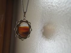 Vintage Brown Agate Pendant by CallyHandcrafted on Etsy, $30.00