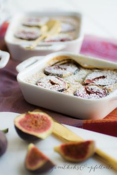 Figs clafoutis- Feigen Clafoutis Fig clafoutis – cinnamon biscuit and apple tart - Cinnamon Biscuits, Camping Desserts, Dessert Drinks, Fabulous Foods, Cookie Desserts, No Bake Cake, Sweet Recipes, Food To Make, Food And Drink