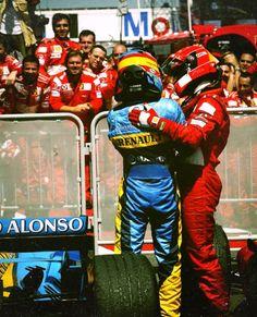 Alonso y Schumacher Michael Schumacher, Mick Schumacher, F1 Racing, Drag Racing, Fernando Alonso Ferrari, F1 Wallpaper Hd, Wallpapers, Chinese Grand Prix, Gp F1