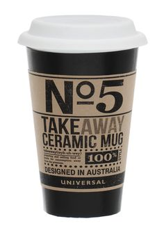 Ceramic takeaway mug on livingExclusive