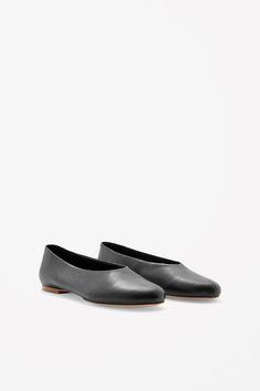 Slip-on leather shoes. En efterårsudgave af ballerinaen (str. 40)