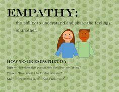 Free empathy mini-lesson.  Includes 6 scenario cards