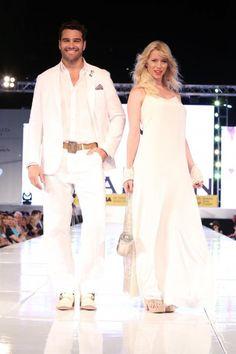 Hernán Drago y Nicole Neumann - desfile Moda Look Buenos Aires