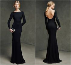 Long Sleeve Prom Dresses 2015 Mermaid Cheap Sexy Backless Evening Gowns Formal Sheath Black Zuhair Murad Prom Dress With Bra Floor Length Prom Dress Black, Prom Dresses Long With Sleeves, Prom Dresses 2015, Long Bridesmaid Dresses, Ball Dresses, Formal Dresses, Dress Long, Long Sleeve Formal Dress, Evening Gown With Sleeves