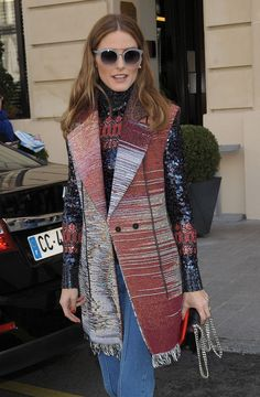 Olivia Palermo at Christian Dior fashion show F/W ready-to-wear 2015/2016 in Paris on March 6, 2015.