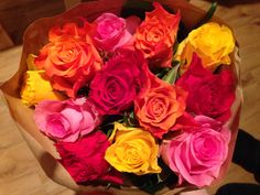 Roses colours flowers bunch happiness