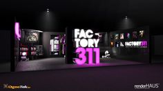 311 EXHIBITION STAND // 2009 DESIGNS #2 by FACTORY311 , via Behance