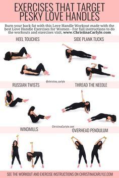 Workout Routines For Women, Fitness Workout For Women, At Home Workouts, Quick Workout At Home, Back Workout Women, Exercise Routines, Oblique Workout, Back Fat Workout, Workout Abs