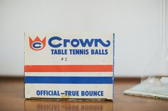 Table Tennis Balls  Vintage Crown by MicroscopeTelescope on Etsy