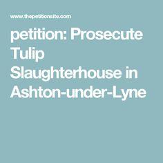 petition: Prosecute Tulip Slaughterhouse in Ashton-under-Lyne