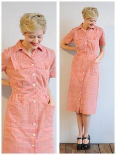 1950s Dress // Farmland Day Dress // vintage by dethrosevintage, $58.00