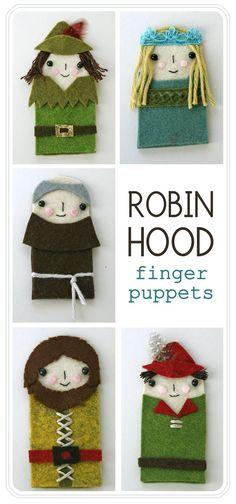 Robin Hood Finger PUppets