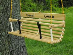 Personalized Toddler Swing For Two / Twins / Handcrafted Wood Swing Great Gift…