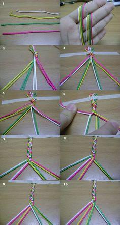 Tram Tram: How to: fishtail braid hair/ bracelet - #Bracelet #Braid #Fishtail #hair #Tram