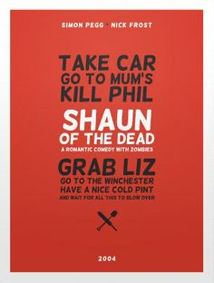 Shaun of the Dead (2004) ~ Minimal Movie Poster by Christopher Conner