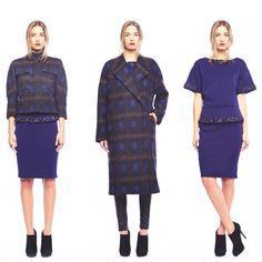 Royal Blue Alert Line & Dot❄️Winter/Holiday Collection- Psychedelic Blue Plaid & Royal Blue Embellishment                                  #LineandDot #LineandDotXO #Holiday14  (at www.thelineanddot.com)