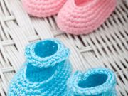 Free Dress-Up Booties Crochet Pattern from RedHeart.com
