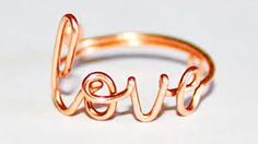 Image result for wire love ring