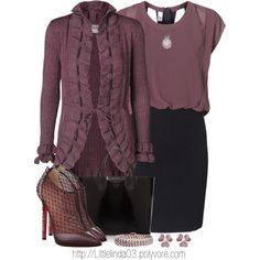 A fashion look from October 2013 featuring Vero Moda dresses, Vero Moda cardigans and Christian Louboutin ankle booties. Browse and shop related looks.