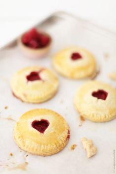 Raspberry Mascarpone mini pies with heart