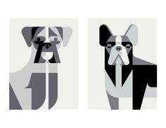 Minimalist Dog Breed Posters from Josh Brill