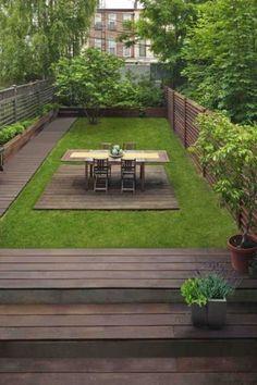 Un jardin de ville classique bord de bois exotique - Amenagement d un petit jardin de ville ...
