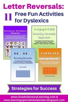Almost all elementary students experience some letter, number and word reversals, but for some, it is a pervasive problem.  Many of these students have symptoms of dyslexia or visual processing weaknesses, and they need to develop learning strategies and exercise visual processing and recognition to a point of automaticity... #dyslexia #reversals #letterreversals #readingreversals