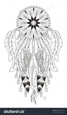stock-vector-attractive-dream-catcher-coloring-page-with-in-exquisite-line-355699793.jpg (936×1600)