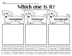 Homophones, Homonyms