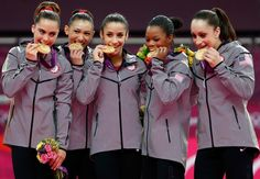 When the Fab Five won the first women's team gymnastics gold medal for the U.S. since 1996!