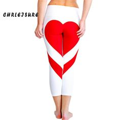 Shop for Women's Tights Love Heart Booty Yoga Leggings Color Block Workout Pants Trousers. Get free delivery On EVERYTHING* Overstock - Your Online Women's Clothing Store! Leggings Mode, Sports Leggings, Workout Leggings, Leggings Fashion, Workout Pants, Women's Leggings, Leggings Are Not Pants, Women's Tights, Fitness Outfits
