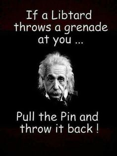 If a libtard throws a grenade at you. That's hilarious Political Satire, Political Topics, Out Of Touch, Military Humor, Dont Tread On Me, Conservative Politics, Liberal Logic, Twisted Humor, People Quotes