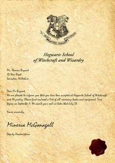 Crush image intended for hogwarts letter printable