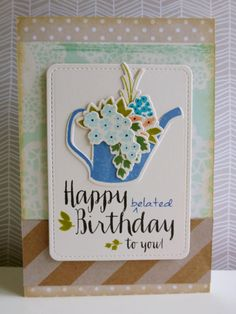 Happy belated birthday - 2014-09-02 - koolkittymusings.typepad.com using @wplus9 Fresh Cut Containers and Strictly Sentiments 5