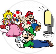 Awesome classic Mario art style illustrations highlighting the Wii U features such as off-tv play, Gamepad as a web-browsing device, etc. You can see more illustrations on Nintendo Japan's website Super Mario Brothers, New Super Mario Bros, Super Mario 3d, Super Mario World, Super Smash Bros, Wii U, Metroid, Mario And Princess Peach, Princess Daisy