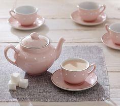 Pink Ceramic Classic Tea Set | Pottery Barn Kids