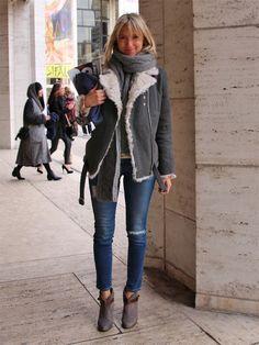 skinny jeans+shortboots
