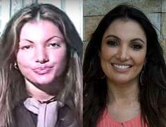Patricia Poeta no início de carreira e, atualmente, à frente do programa 'É de Casa' - Reprodução, Youtube/Divulgação TV Globo