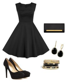 """""""A Classic Look"""" by tmvossen ❤ liked on Polyvore featuring Jimmy Choo, Yves Saint Laurent, Effy Jewelry and GUESS"""