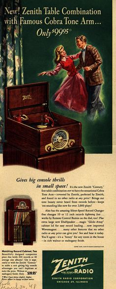 Zenith Table Combination Radio