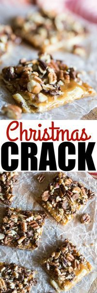 Christmas Crack is all your Christmas candy wishes - on crack! You won't find an easier candy to make, anywhere. It's salty, sweet, and ADDICTIVE!