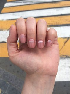 Opting for bright colours or intricate nail art isn't a must anymore. This year, nude nail designs are becoming a trend. Here are some nude nail designs. Nails Gelish, Nude Nails, Nail Manicure, Pink Nails, Acrylic Nails, Minimalist Nails, Hair And Nails, My Nails, Nagel Gel
