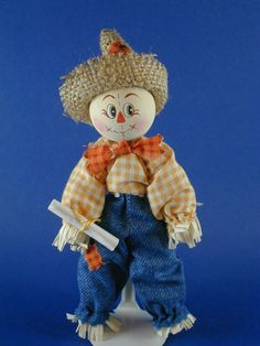 Scarecrow of Oz Clothespin Doll